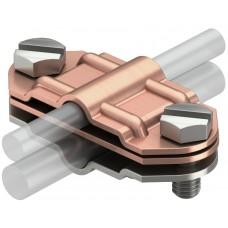 5336376 Биметаллический разделительный зажим для круглых проводников Rd 8-10 и плоских проводников FL30