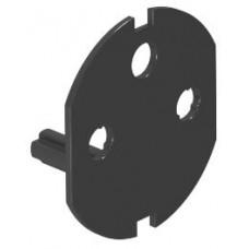 6120799 Ключ-накладка для розеток с блокировкой, черный цвет