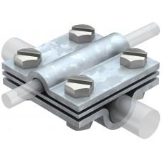 5312345 Крестовой соединитель для круглых проводников Rd 8-10 * Rd 16, с промежуточной пластиной
