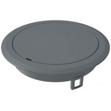 7405086 Лючок GES R2 с глухой крышкой, без выемки для фрагмента напольного покрытия, пластиковый