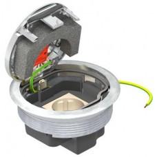 7405596 Люк GESRM2 для монтажных оснований UZD/UDL с 1 розеткой с з/к, хромированный