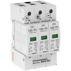5094605 Разрядник для защиты от перенапряжений V20 для фотогальванических установок, 600 В постоянного тока