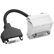 6104766 Розетка DVI-D 45x45 с кабелем подключения, угловая