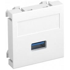 6104874 Розетка мультимедийная USB 3.0, 45x45 белая