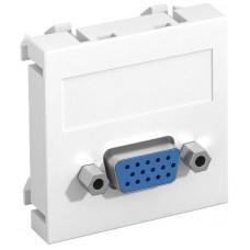 6104610 Розетка VGA, ширина 1 модуль, с прямым выводом