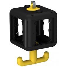 6109800 Розеточный блок VH-4 пустой, для установки 4 устройств 45х45