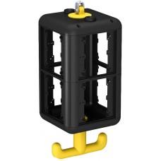 6109821 Розеточный блок VH-8 пустой, для установки 8 устройств 45х45