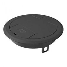 7405084 Лючок GES R2 с кабельным выводом, пластиковый, чёрный