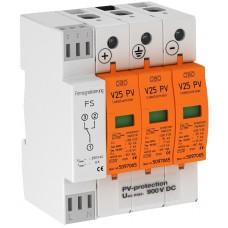 5097448 Комбинированный разрядник V25 для фотогальванических установок, 900 В постоянного тока, с дистанционной сигнализацией