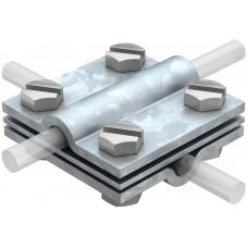 5312310 Крестовой соединитель для круглых проводников Rd 8-10 с промежуточной пластиной