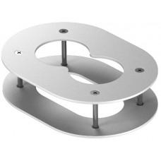6290382 Потолочная накладка для 2-секционной электромонтажной колонны ISS140100F белая