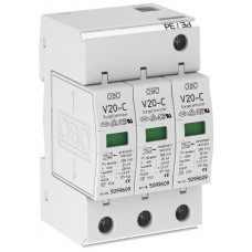 5094624 Разрядник для защиты от перенапряжений 3-полюсный V20C