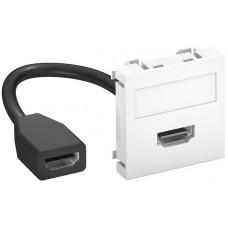 6104826 Розетка HDMI 45x45 с кабелем подключения