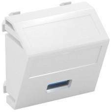 6104886 Розетка мультимедийная USB 3.0, 45x45, угловая белая
